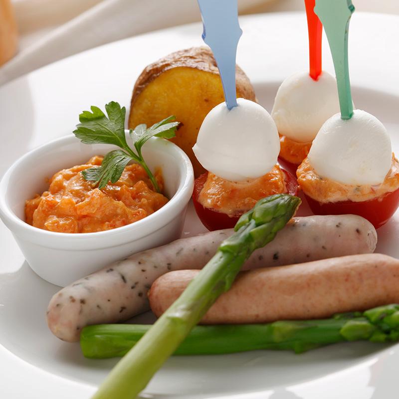 メルバトースト+北海道野菜のディップ