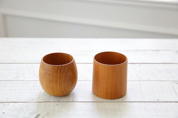 sakura湯呑2点(たまご型・筒型)