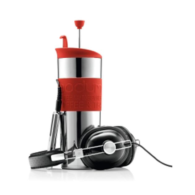 トラベルプレスセットコーヒーメーカー エクストラリッド付 ステンレススチール
